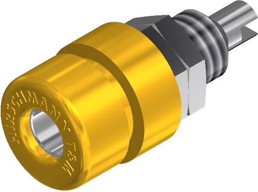 Beépíthető banándugó aljzat 4mm-es sárga SKS Hirschmann BIL 30