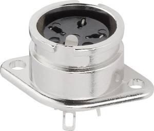 DIN kerek csatlakozóhüvely peremes hüvely, egyenes érintkezők pólusszám: 8 ezüst BKL Electronic 0202021 1 db BKL Electronic
