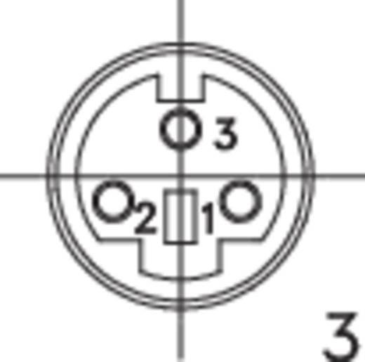 DIN kerek csatlakozóhüvely alj, beépíthető, vízszintes pólusszám: 3 fekete BKL Electronic 0204046 1 db