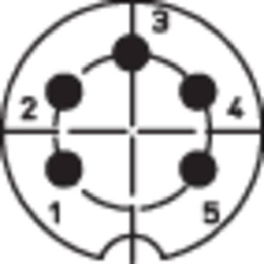 DIN kerek csatlakozóhüvely peremes hüvely, egyenes érintkezők pólusszám: 5 ezüst BKL Electronic 0202018 1 db