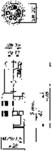 Szerelhető műszercsatlakozó 6 + PE pólusú N6R EF Hirschmann