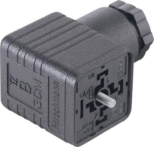 Négyszögletű csatlakozó, GDM sorozat 2+PE pólusú fekete GDM 2009 Hirschmann