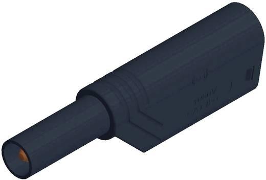 Hirschmann csavaros biztonsági lamellás banándugó, egyenes, Ø 4 mm, 24A, fekete, LAS S WS SKS