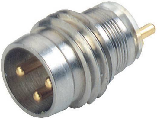 Készülékcsatlakozó M8-as érzékelőkhöz fémes ezüst ELST 3308 RV KM Hirschmann