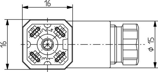 Szerelhető csatlakozó dugó G-sorozatú 4 pólusú fekete G 4 W 1 F Hirschmann
