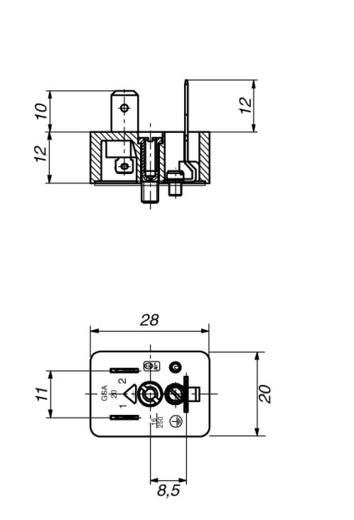 Szerelhető csatlakozó dugó 2+PE pólusú GM/GMN GSA 20 Hirschmann