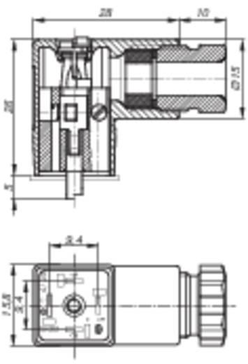 Vezeték csatlakozóaljzat 2+PE pólusú fekete GDS 207 Hirschmann