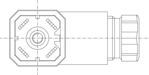 Szerelhető csatlakozódugó, könyök dugó G-sorozat fekete 3+PE pólusú G 30 W 3 F Hirschmann