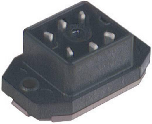 Felületre rögzíthető csatlakozó dugó, forrasztható 6 pólusú csatlakozókkal fekete GO 60 FAV M Hirschmann