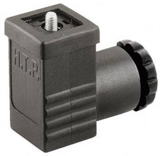 Szerelhető csatlakozódugó, könyök dugó 3+PE pólusú fekete GDSN 307 Hirschmann