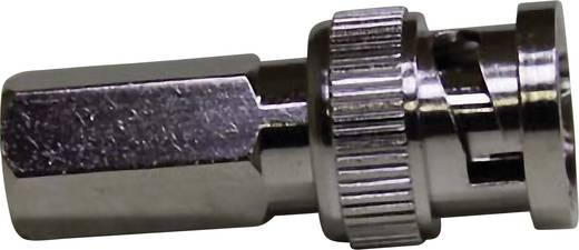 Feltekerhető BNC dugó, egyenes, nikkelezett, RG 59 B/U, RG 62 A/U