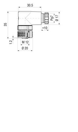 Vezetékre szerelhető csatlakozóaljzat szerelhető elektronikával 2+ PE pólusú fekete GDME 2011 Hirschmann