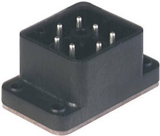 Felületre rögzíthető csatlakozó dugó 6+PE pólusú fekete GO 610 FA M Hirschmann