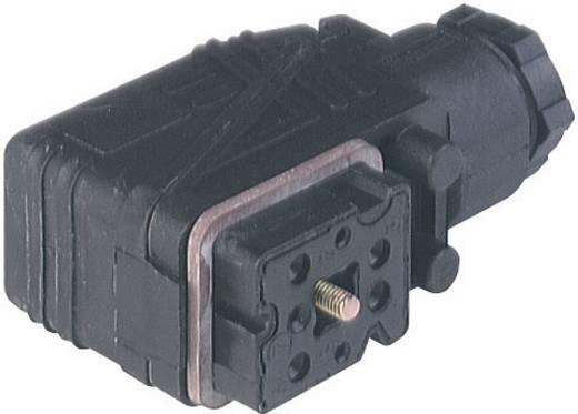 Kábelre szerelhető csatlakozó dugó, könyök dugó 6+PE pólusú fekete M16 menettel GO 610 WF Hirschmann