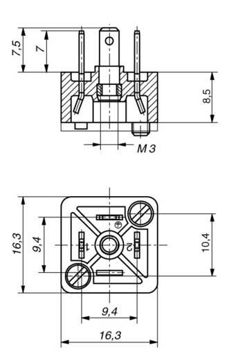 Szerelhető csatlakozó dugó 3+PE pólusú CO GSSA 300 Hirschmann