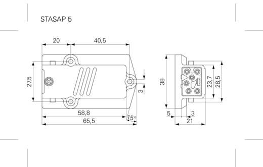 Felszerelhető műszercsatlakozó 5+PE pólusú STASAP 5 Hirschmann