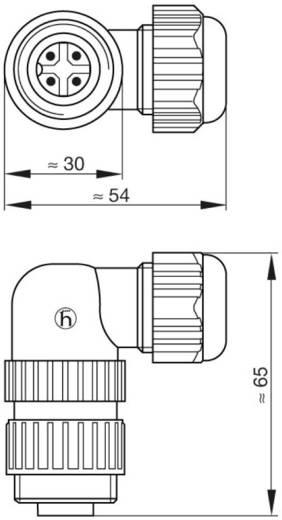 Műszercsatlakozó dugó hálózati feszültséghez 3+PE pólusú CA sorozat 934 128-100 Hirschmann