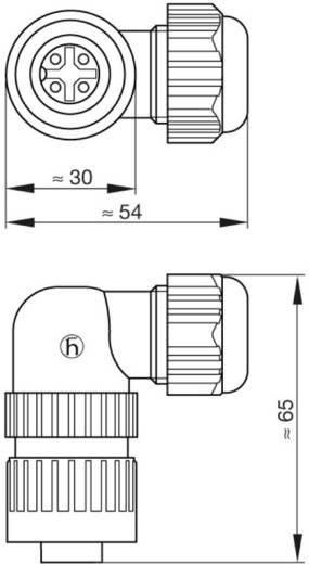 Műszercsatlakozó dugó hálózati feszültséghez 3+PE pólusú CA sorozat 934 129-100 Hirschmann
