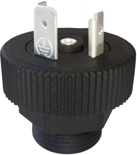 Szerelhető csatlakozó dugó 2+PE pólusú fekete GMD sorozat Hirschmann GSP 2 M20