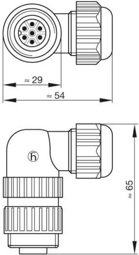 Műszercsatlakozó dugó hálózati feszültséghez 6+PE pólusú CA sorozat 934 130-100 Hirschmann