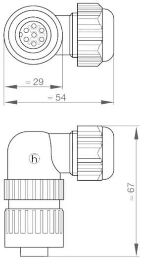 Műszercsatlakozó dugó hálózati feszültséghez 6+PE pólusú CA sorozat 934 131-100 Hirschmann
