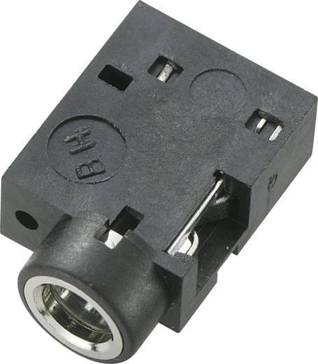Beépíthető, forrasztható 3,5 mm-es Sztereó Jack aljzat fekete