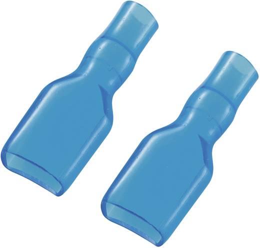 Szigetelő hüvely 6,3 mm kék