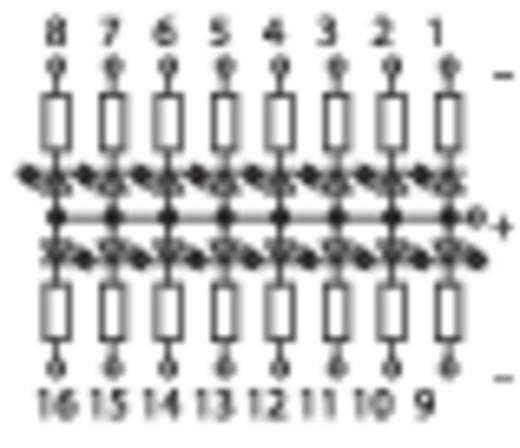Dióda interfész, sínre szerelhető 0.08 - 2.5 mm² indikátor modul 16 LED DC 24V PLUS WAGO tartalom: 1 db