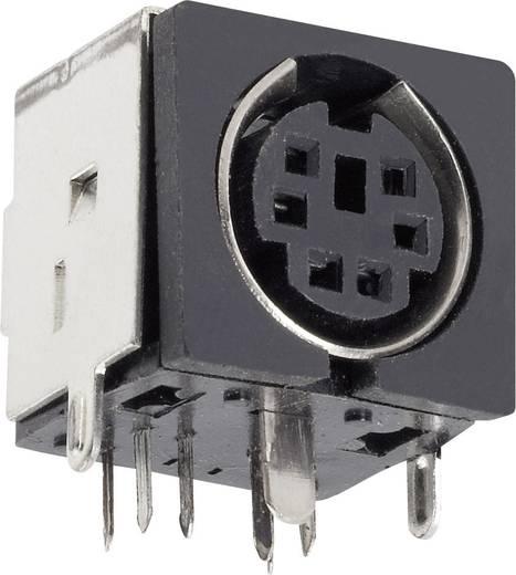 Beépíthető mini DIN aljzat, vízszintes, pólusszám: 8 fekete BKL Electronic 0204056