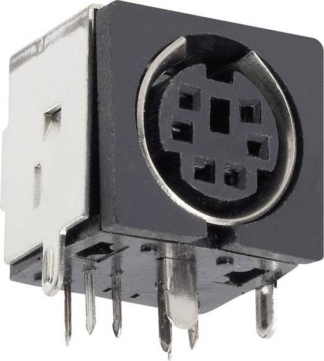 DIN kerek csatlakozóhüvely alj, beépíthető, vízszintes pólusszám: 8 fekete BKL Electronic 0204056 1 db