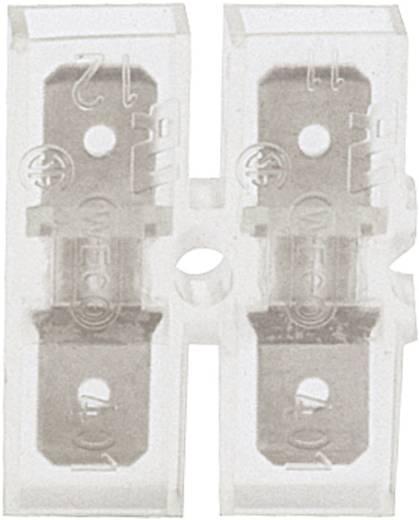 Dugaszoló csúszósaru, 6,3 mm / 0,8 mm 180°, teljesen szigetelt, átlátszó Klauke 8001