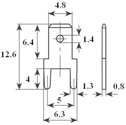 Dugaszoló csúszósaru, 4,8 mm / 0,8 mm 180° szigeteletlen, fémes Vogt Verbindungstechnik 382508.61 100 db