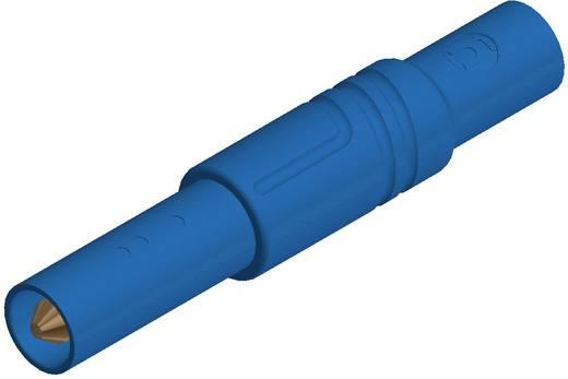 SKS Hirschmann biztonsági lamellás banándugó, Ø 4mm, kék, LAS S G