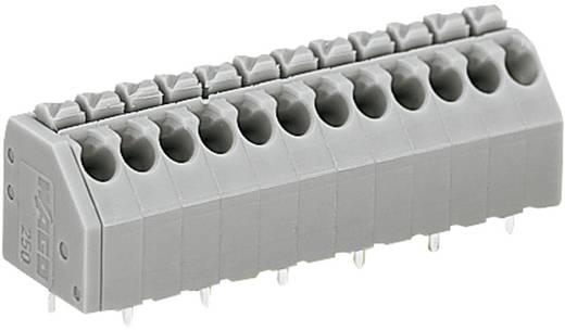 Nyáklap kapocs, 250-es sorozat 250-208CAGE CLAMP®S Raszterméret: 3.5 mm 8 A Szürke WAGO