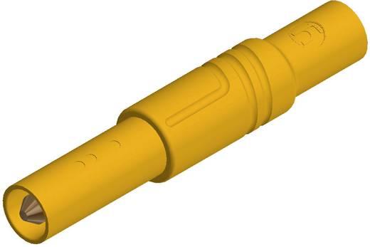 SKS Hirschmann biztonsági lamellás banándugó, Ø 4mm, sárga, LAS S G