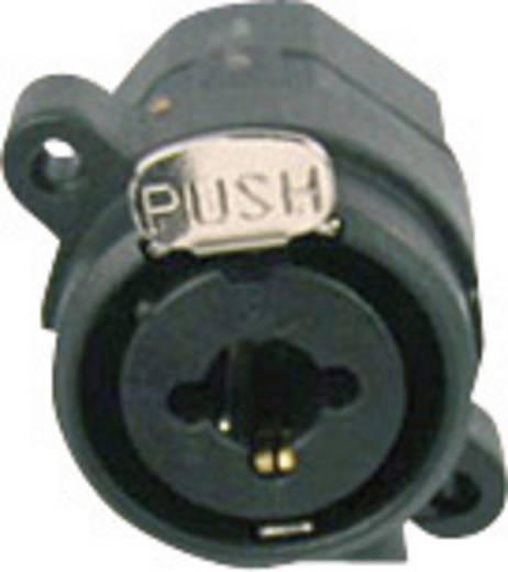 XLR csatlakozó alj, beépíthető, függőleges pólusszám: 3 fekete Cliff FC2440 1 db