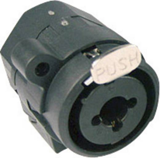 XLR csatlakozó alj, beépíthető, függőleges pólusszám: 3 fekete Cliff FC2470 1 db