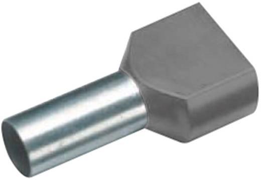 Érvéghüvely műanyag gallérral, DUO 2 x 0,75 mm² x 8 mm DIN 46228/4 szürke Vogt Verbindungstechnik, 100 db