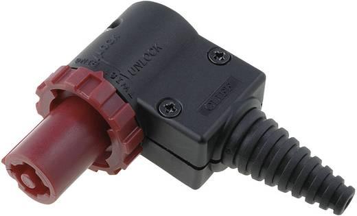 CLIFFCON® ütésálló lengő csatlakozó dugó, könyök, 4 pól., 250V/AC 20A, piros, FCR20673