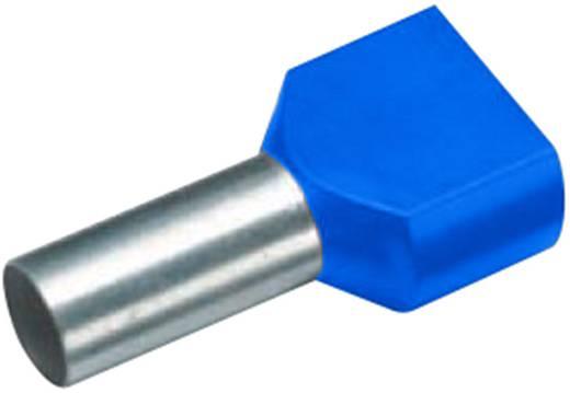 Érvéghüvely műanyag gallérral, DUO 2 x 2,5 mm² x 9 mm DE-színkód kék Vogt Verbindungstechnik, 100 db