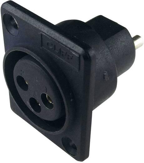 XLR csatlakozó peremes hüvely, egyenes érintkezők pólusszám: 3 fekete Cliff ACF 1 db