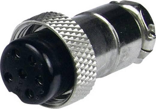 Miniatűr DIN kerek csatlakozó alj, egyenes pólusszám: 6 ezüst Cliff FC684216 1 db
