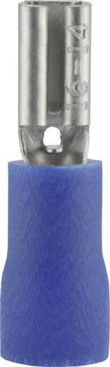 Lapos csúszósaru hüvely 2,8 x 0,8 mm, részlegesen szigetelt, kék, Vogt Verbindungstechnik 389908S