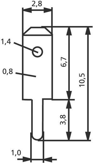 Dugaszoló csúszósaru, 2,8 mm / 0,8 mm 180° szigeteletlen, fémes Vogt Verbindungstechnik 378008.61 100 db