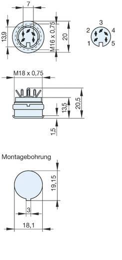 Beépíthető DIN hüvely 5 pólusú