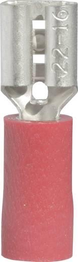Lapos csúszósaru hüvely 4,8 x 0,8 mm, részlegesen szigetelt, piros, Vogt Verbindungstechnik 3901S