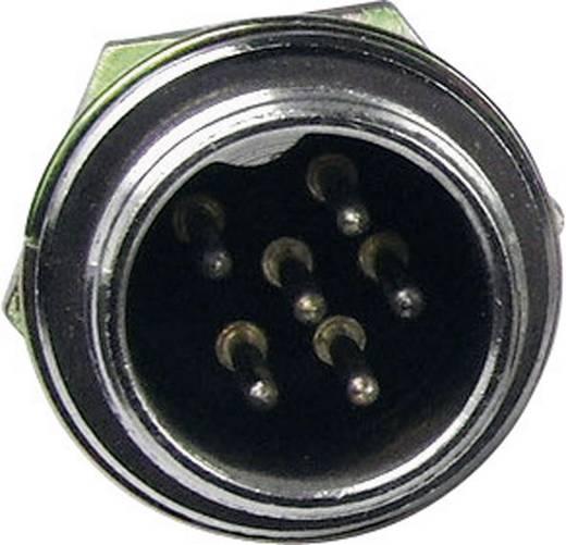 Miniatűr DIN kerek csatlakozó alj, beépíthető, függőleges pólusszám: 6 ezüst Cliff FC684206 1 db