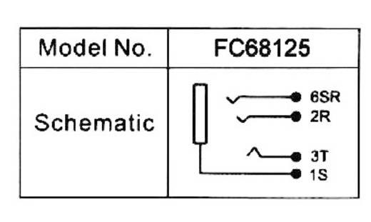 Cliff beépíthető 3,5 jack hüvely, 4 pól., FC68125
