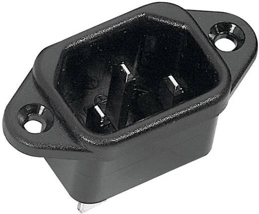 Beépíthető hálózati műszercsatlakozó dugó, függőleges, 3 pól., 10 A, fekete, C14, K&B 42R014122