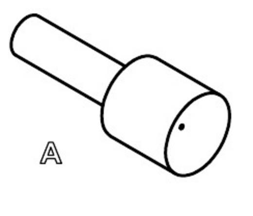 Mérőhegy, rugóérintkezős mérőtüske PTR 1007-A-0.7N-AU-0.9